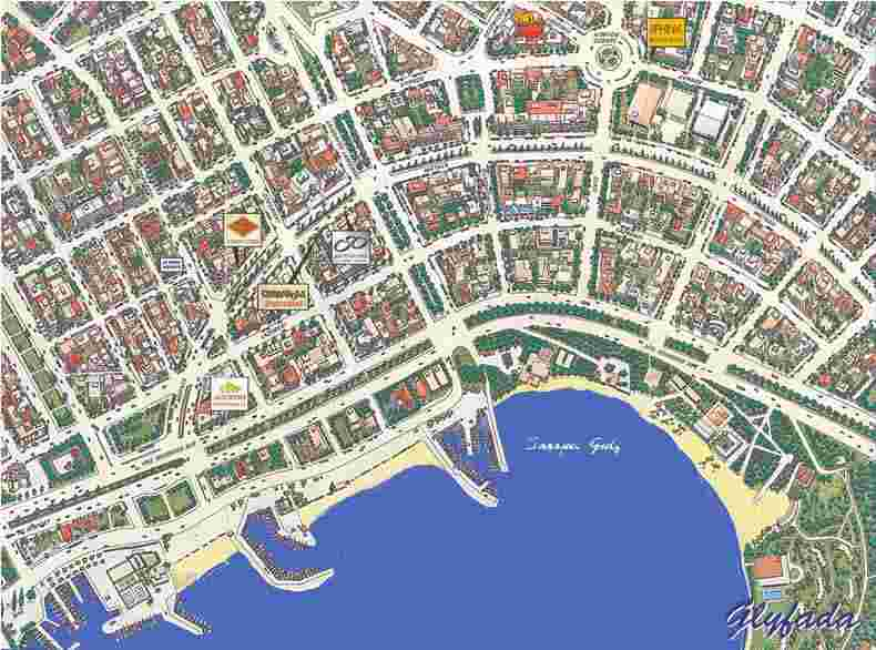 map glyfada athens greece