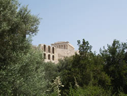 leaving the acropolis